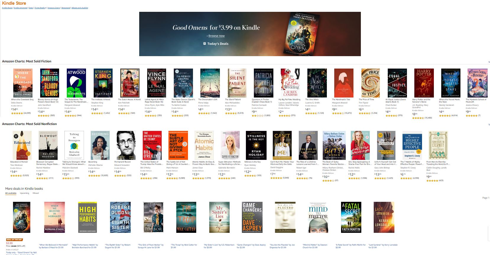 Kindle Store Landing Page
