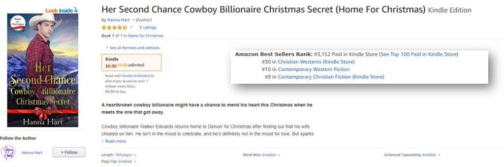 Her Second Chance Cowboy Billionaire Christmas Secret