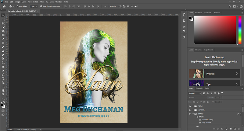 Adobe Photoshop for cover design